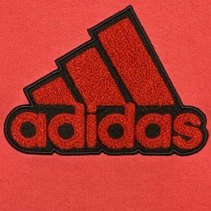 Adidas Pullover Hoodie 3D Fuzzy Logo Solid Red XL